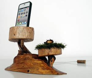 Rustic wooden docks for iPhone, iPod and iPad devices