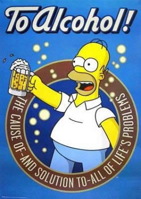 Homer Simpson And Beer