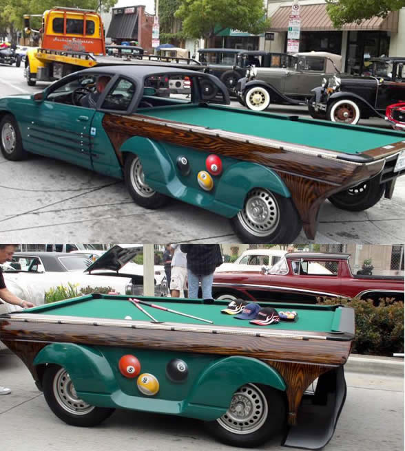 Mobile Car Pool Table