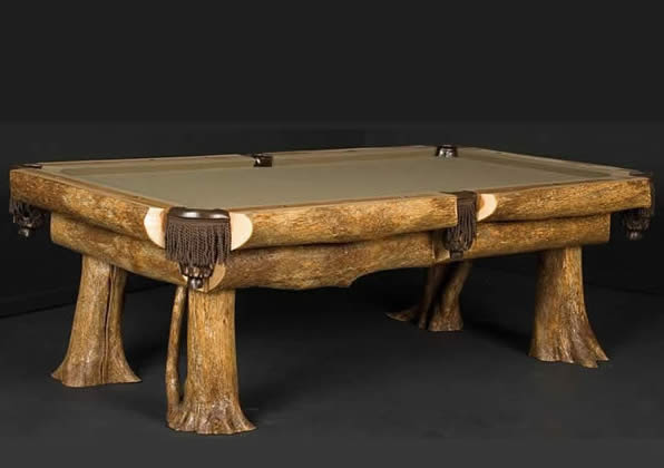 Pool Table - Tree Stumps