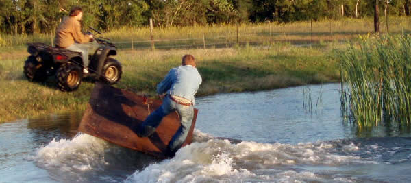 redneck water skiing