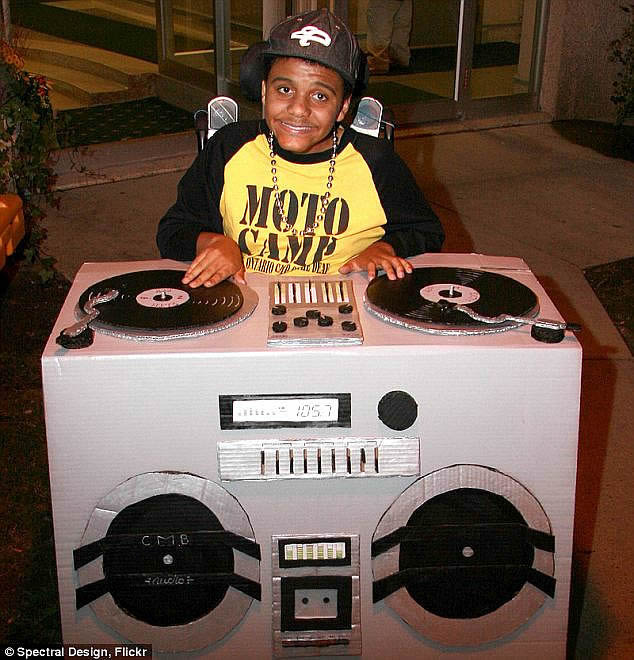dj wheelchair costume