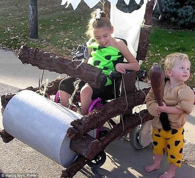 flintstone wheelchair costume