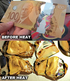 Canadian Money Melted