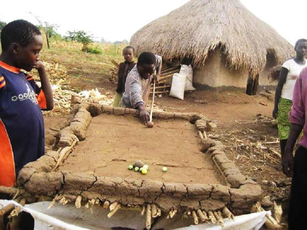 Pool Table Made From Mud