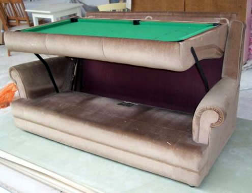 Couch Pool Table