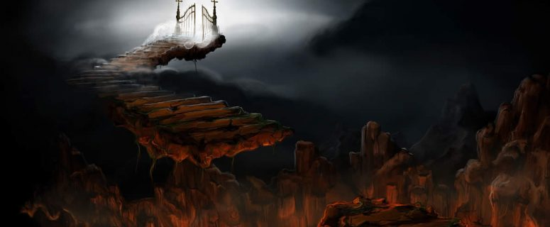 Hell With Stairs To Path To Heaven