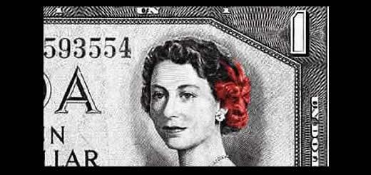 Devils Head Canadian One Dollar Bill