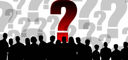 Question Marks Group Of People