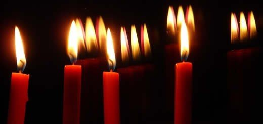 Red Candles Lit