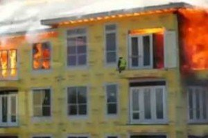 Construction Worker Barely Escapes Burning Building | Unreal Video Footage