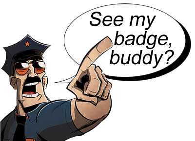 Police Officer See My Badge Buddy
