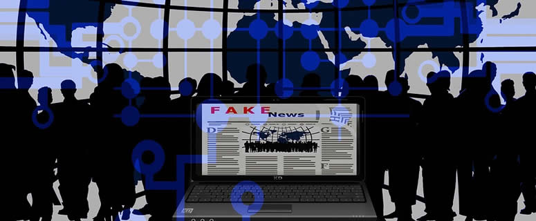 Fake News Screen On Laptop