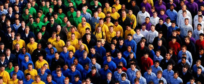 Group of People Wearing Colored shirts