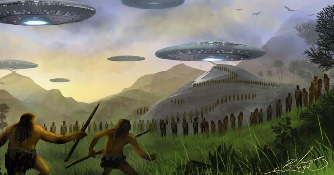 Alien UFO Landing On Earth